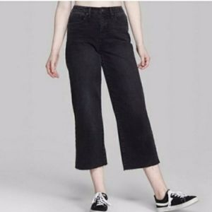 NEW WILD FABLE HIGH RISE SKATER RAW WIDE LEG JEANS